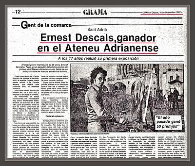 ATENEU-ATENEO-SANT ADRIA DEL BESOS-ENTREVISTAS-GRAMA-PINTURA-PREMIOS-PINTOR-ERNEST DESCALS