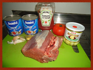 Ingredientes para o strogonoff de filet mignon