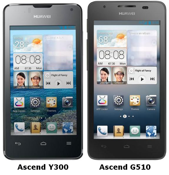 Huawei Launched Ascend Y300 and Ascend G510 with Android OS, v4.1 and
