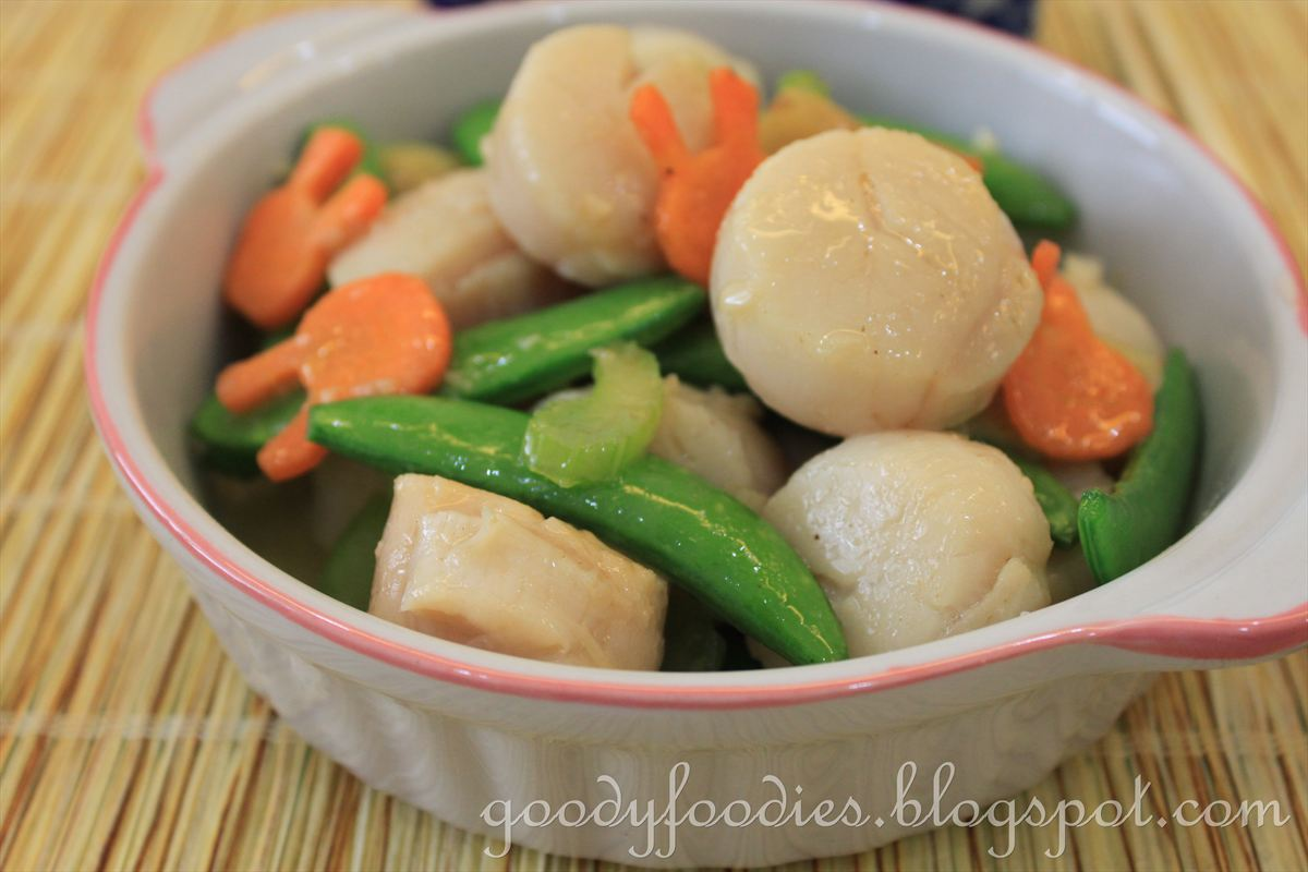 GoodyFoodies: Recipe: Stir fried scallops with sugar snap ...