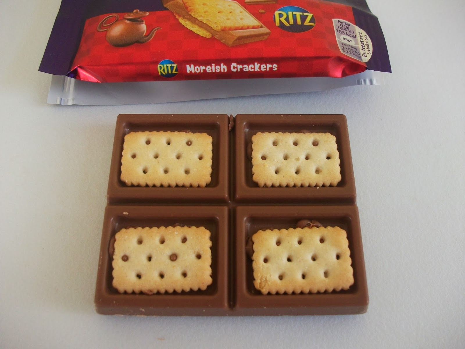 cadbury dairy milk with ritz crackers