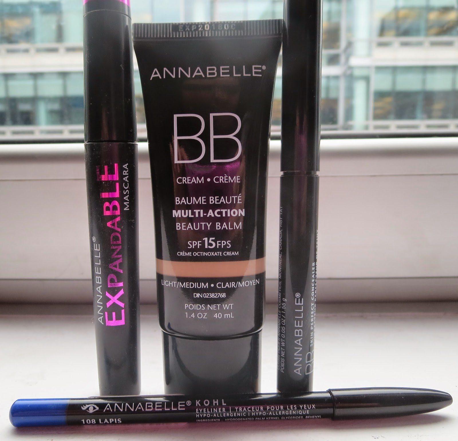 a picture of Annabelle Cosmetics, BB cream, Expandable Mascars, BB Concealer, Kohl eyeliner