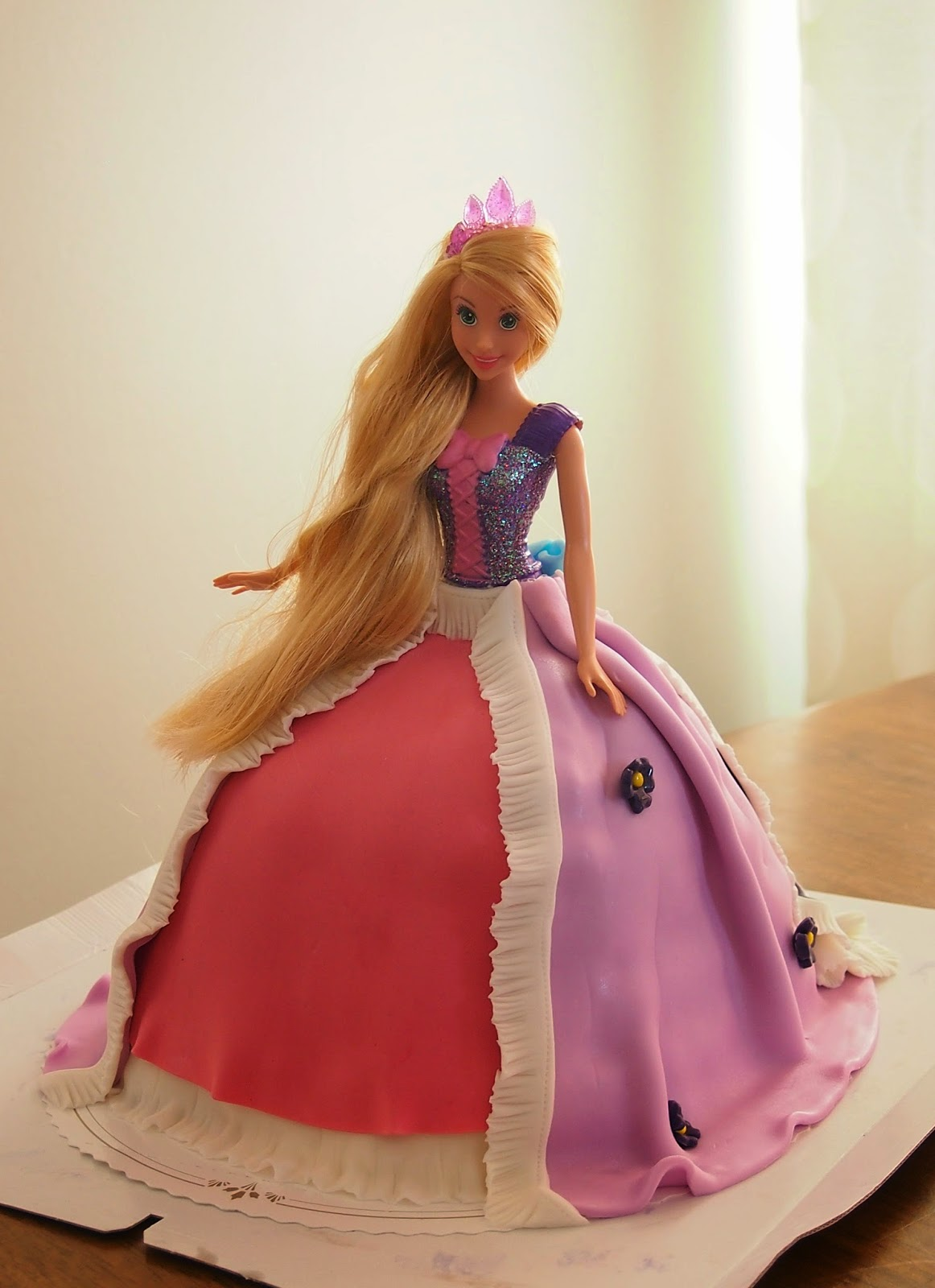 Barbie kakku vaihekuvina