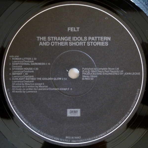 Felt The Strange Idols Pattern And Other Short Stories