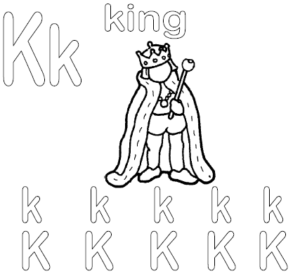 Alphabet Letter K King  FirstSchool Preschool Activities