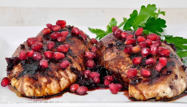 Pomegranate Glazed Chicken