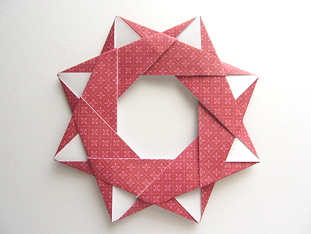 Origami Origami Modular Star Wreath