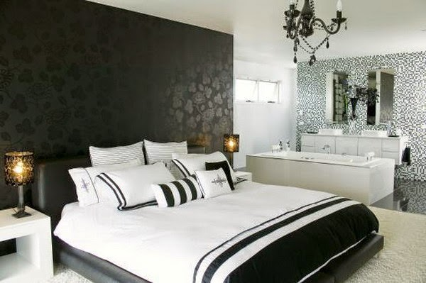 Bedroom ideas spikharry modern wallpaper designs for for Bed wallpaper design