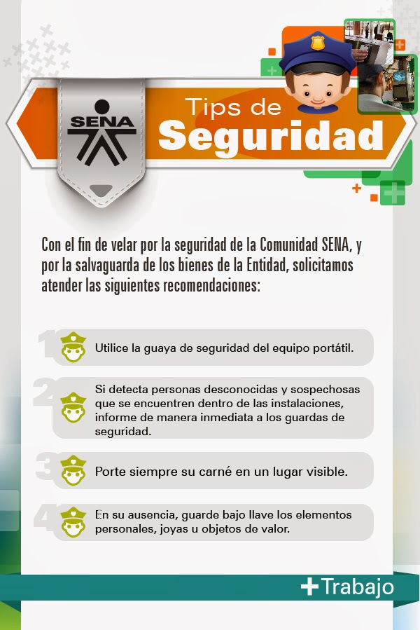 Tips Seguridad Tips de Seguridad Sena