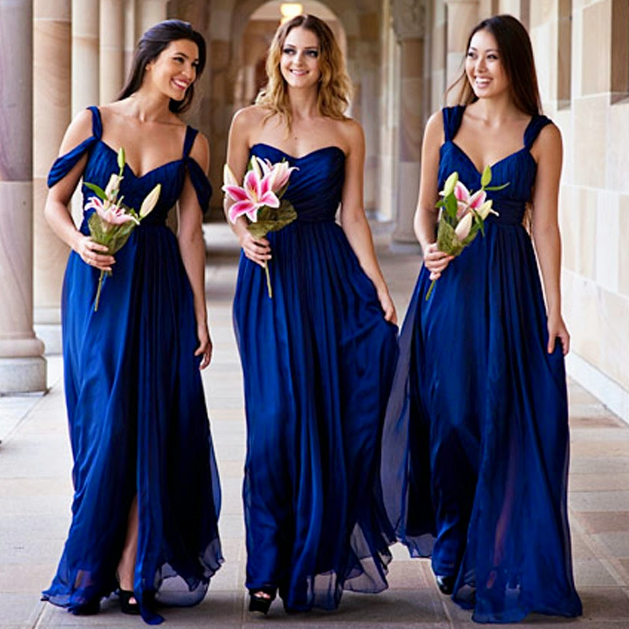 About Navy Bridesmaid Dresses