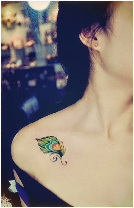 Chest Tattoo - Feather ♥