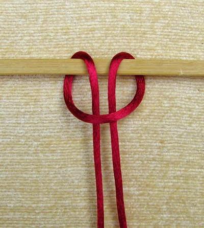 Simpul lark's head knot