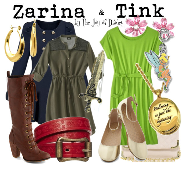 Zarina Pirate Fairy, Zarina and Tinkerbell outfits, Disney fashion