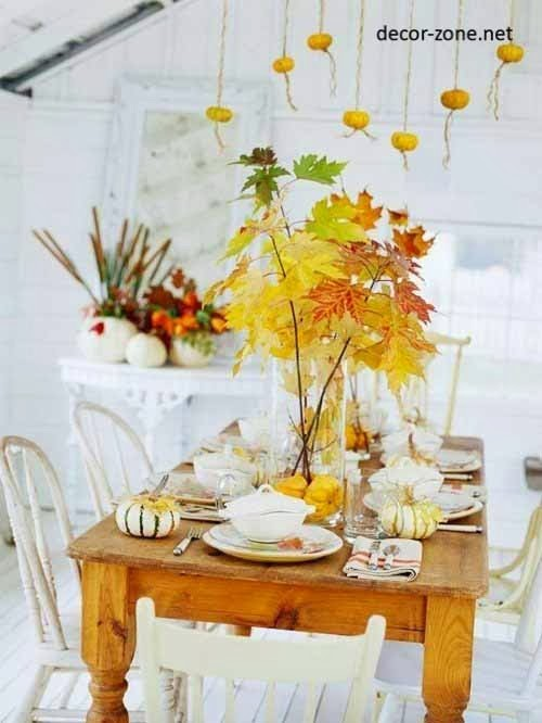leaves in the interior, kitchen decorating ideas