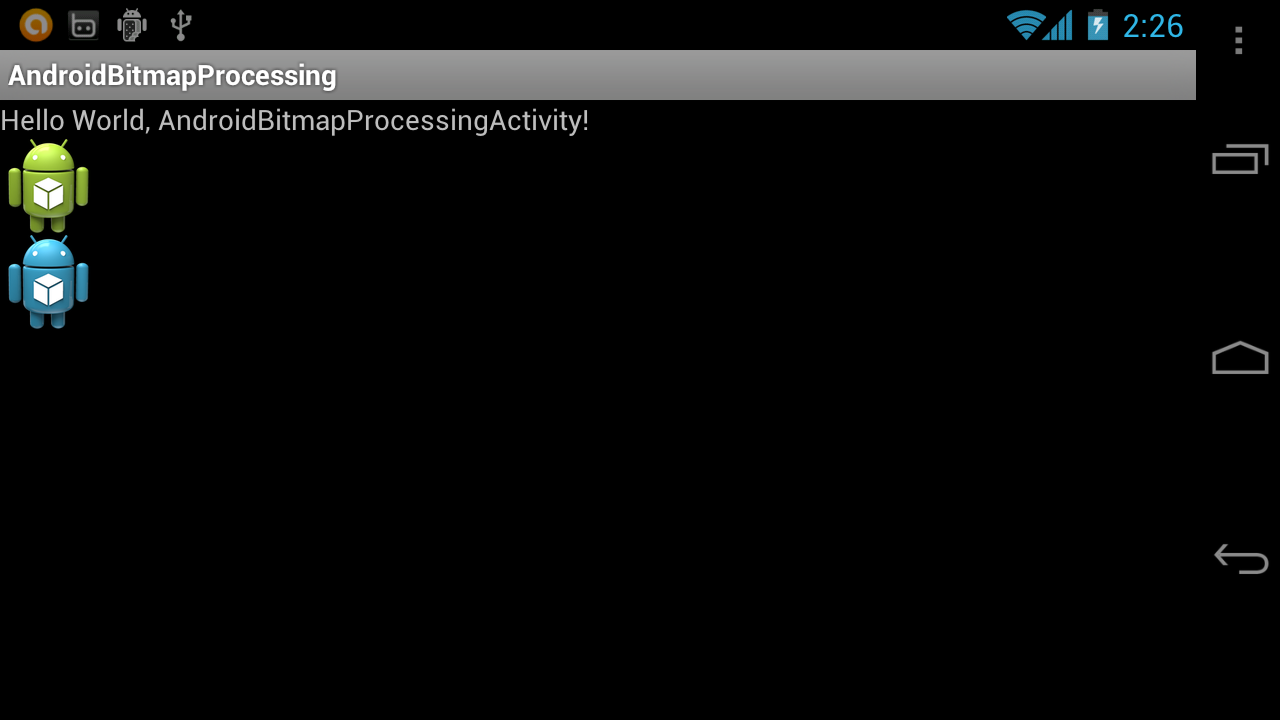 how to add processing image in android