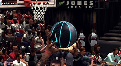 NBA 2K13 Custom Nike Ball Patch (Gray, Black & Blue)