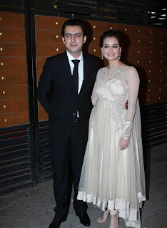 Diya Mirza in white anarkali images 2013