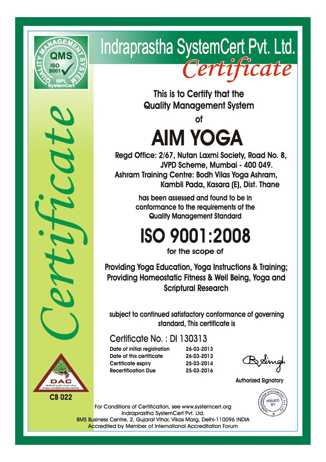 Iso Certification Essential For Yoga Teachers Institutions