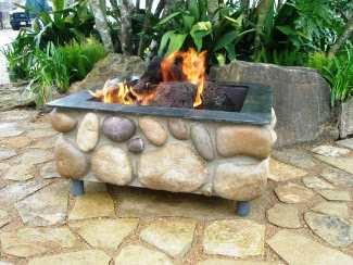 stainless steel coloro fire Log