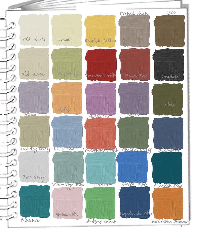 Book color palette - New Video Tutorial Annie Sloan Chalk Paint Color Palette