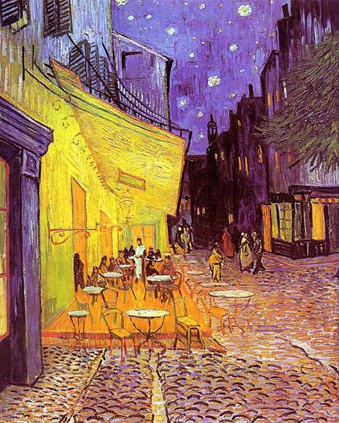 Cafe Terrace at Night, Van Gogh (1888)