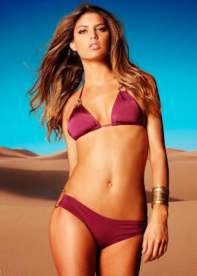 Spanish bombshell Leticia Zuloaga sexy body in sexy bikinis for Vitamin A swimwear models