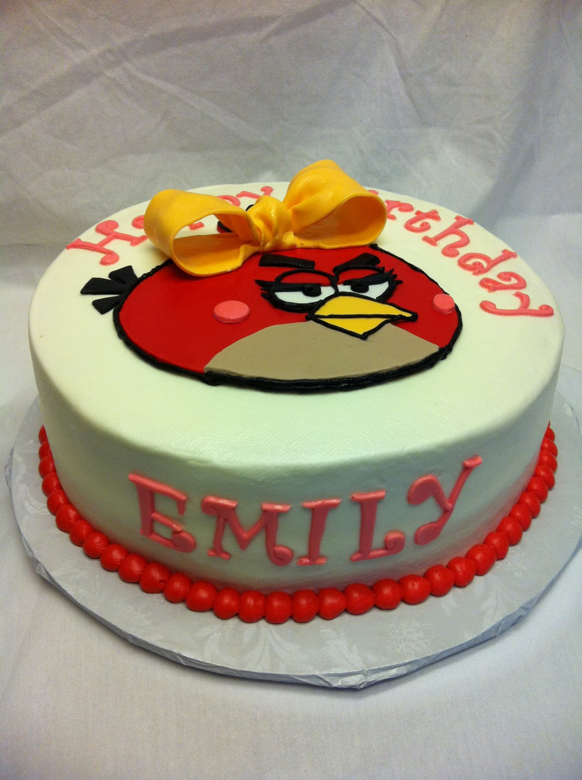 Rachels Creative Cakes A Girl Angry Bird Birthday Cake