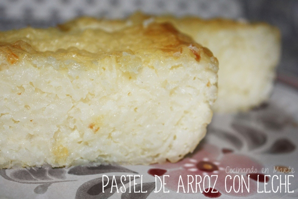 Pastel de arroz con leche