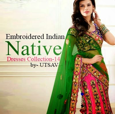 Utsav Fashion Colorful Embroidered Indian Native Dresses