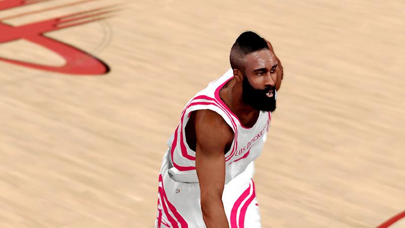 NBA 2K14 James Harden Cyberface Patch