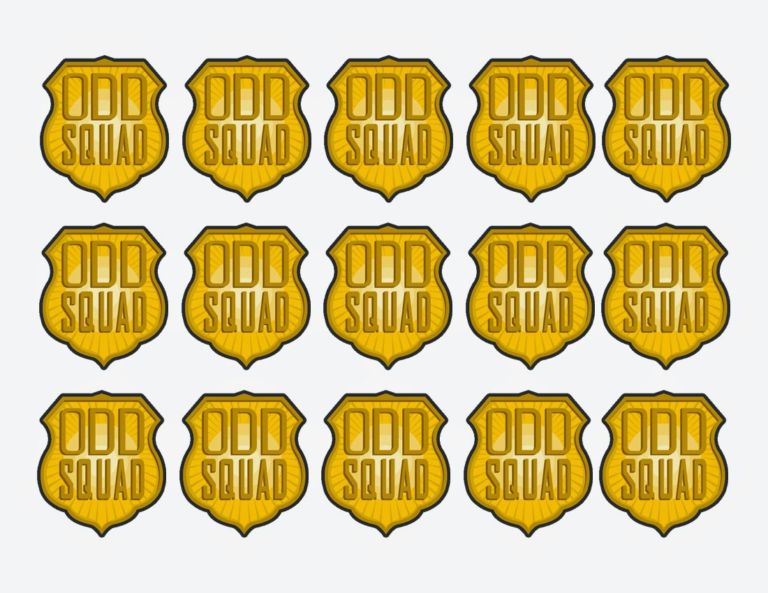 Invaluable image within odd squad badge printable