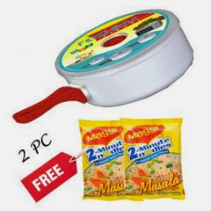 Shopclues: Buy Microwave Feng-shui souce pan + 2 Pc Free Maggi + Rs.3 Cashback Rs.122