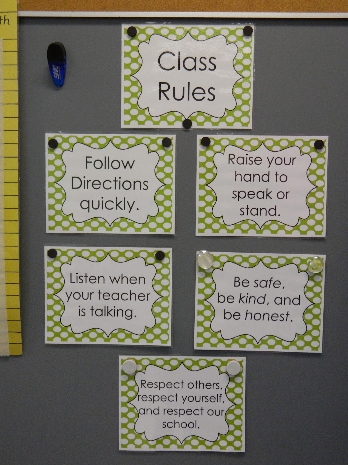 Classroom Rules Ideas ~ Flamingo fabulous classroom reveal
