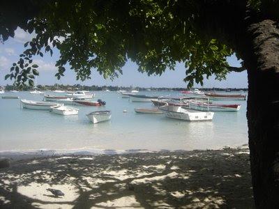 Plage de Grand Baie dans le nord de l'Ile Maurice