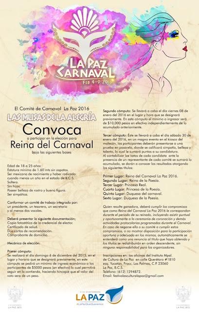 reina de carnaval la paz 2016