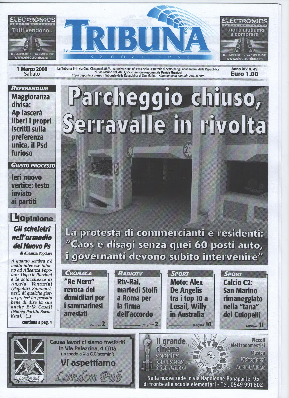 "Quotidiano ""La tribuna sammarinese"""