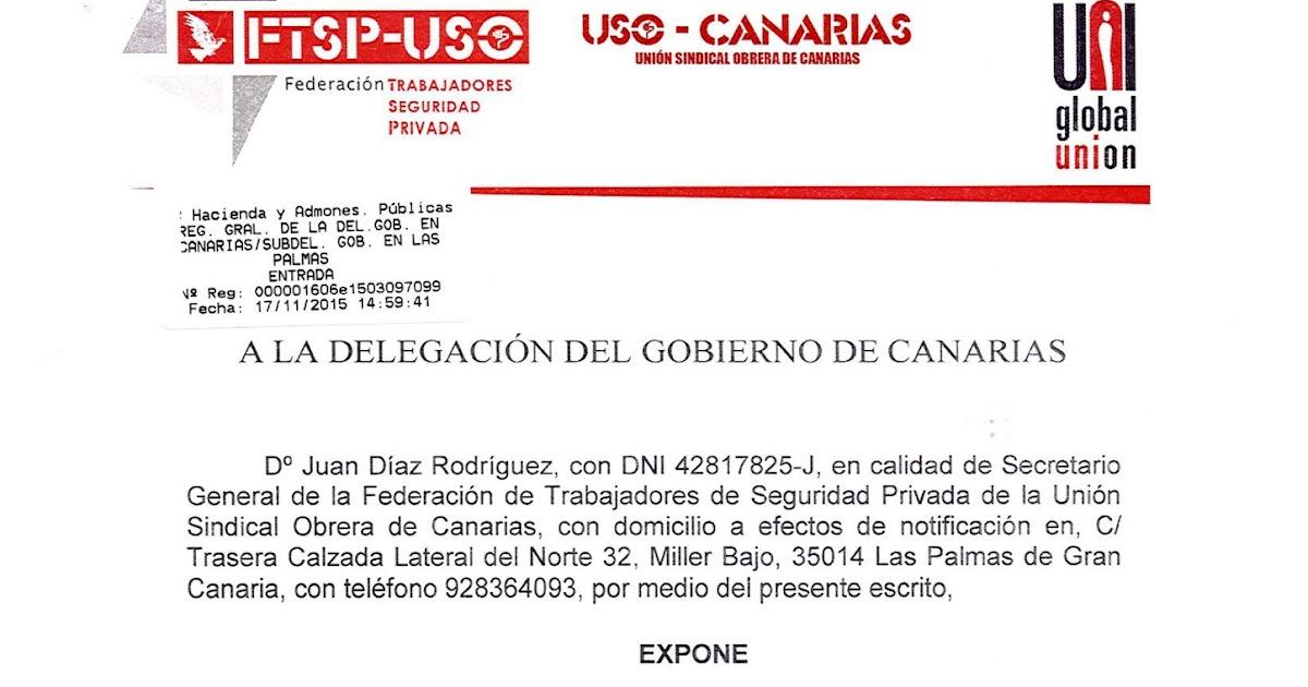 Ftsp uso las palmas petici n de autorizaci n a delegaci n for Oficina virtual gobierno de canarias