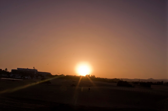 Gran Canaria, Bahia Feliz, zachód słońca, wakacje, piękny widoki