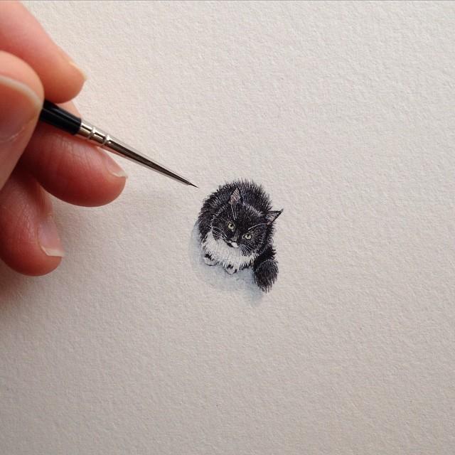 Las pinturas más pequeña de cosas cotidianas por Brooke Rothshank