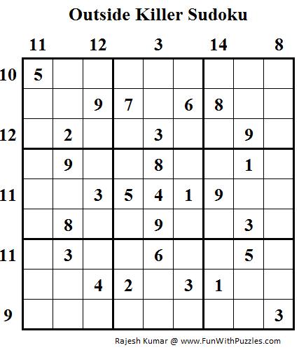 Outside Killer Sudoku (Daily Sudoku League #98)