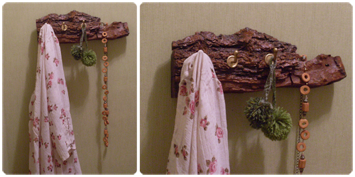 Accesorios Para Baño Que Se Pegan:de madera reciclada, perchero o porta-llaves, reciclar un trozo de