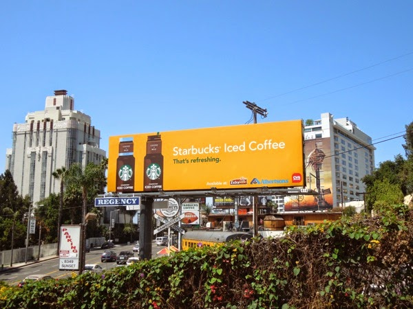 Starbucks Iced Coffee billboard