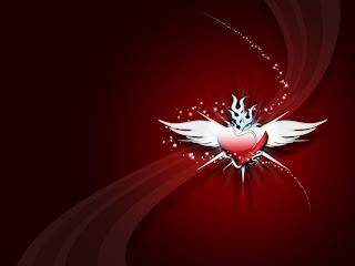 Flying Pink Heart Love Wallpaper