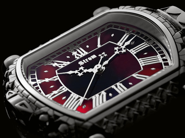 Strom Agonium Collection: Memento Mori, Carpe Noctem Watch dial
