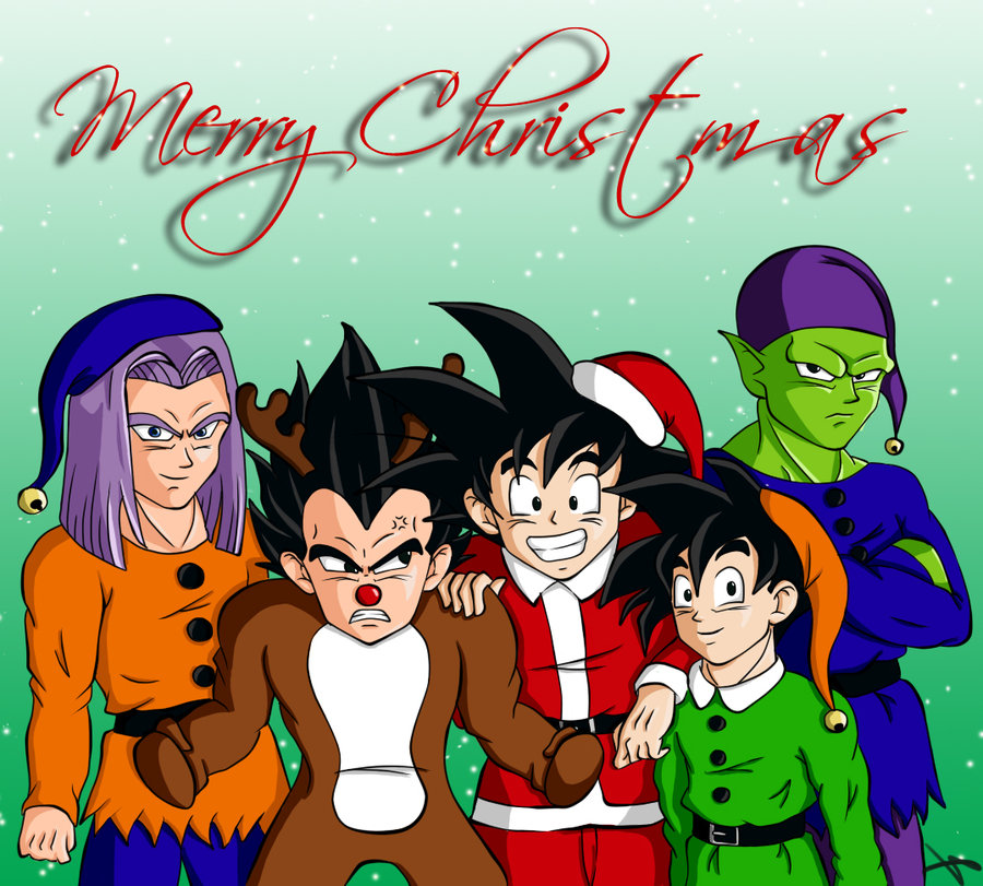 Dragon Ball Super Christmas Wallpaper: Goku Y Vegeta: FELIZ NAVIDAD