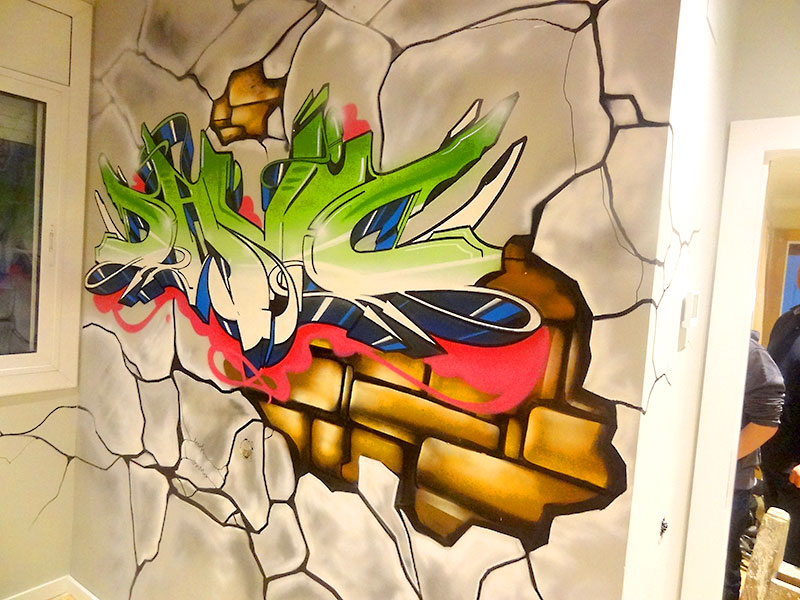 Berok graffiti mural profesional en barcelona ideas for Graffitis para habitaciones