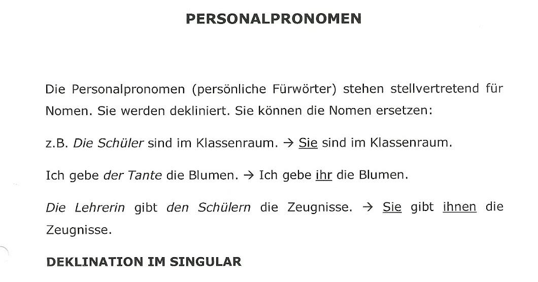 Fein Arbeitsblätter Substantiv Und Pronomen Bilder - Super Lehrer ...