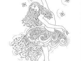 Barbie Twelve Dancing Princesses Coloring Pages