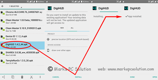 APK app installation process
