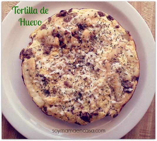 receta facil tortilla de huevo